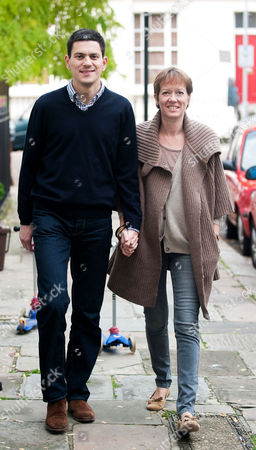 David Miliband and wife Louise Miliband