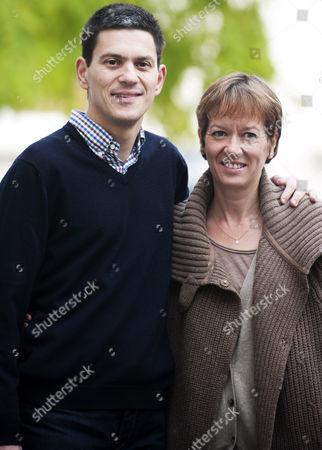 Stock Image of David Miliband and wife Louise Miliband