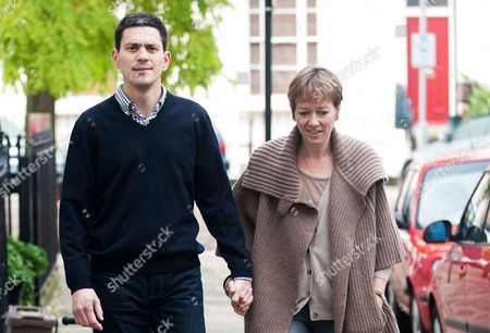 Editorial picture of David Miliband and wife Louise leaving their Primrose Hill home, London, Britain - 30 Sep 2010