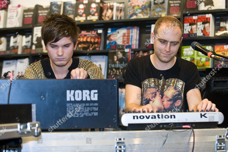 Editorial picture of Fenech Soler at  HMV in Peterborough, Cambridgeshire, Britain - 27 Sep 2010