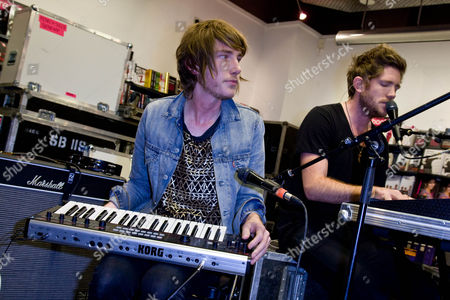Editorial image of Fenech Soler at  HMV in Peterborough, Cambridgeshire, Britain - 27 Sep 2010