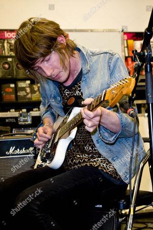 Editorial image of Fenech Soler at  HMV in Peterborough, Cambridgeshire, Britain - 27 Sep 2010