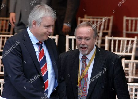 First Minister for Wales Carwyn Jones and Sir Terry Matthews
