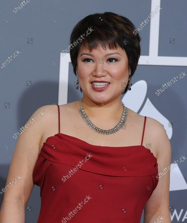 Angelin Chang arrives at the 51st annual Grammy Awards at the Staples Center in Los Angeles on February 8, 2009.
