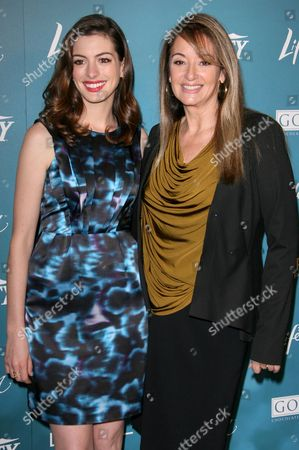 Stock Picture of Anne Hathaway and Suzan Bymel