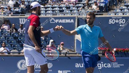 Editorial image of Canada Toronto Tennis National Bank Open Men's Doubles Semifinals - 14 Aug 2021