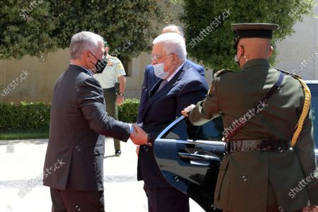 Palestinian President, Mahmoud Abbas meets with Jordanian King Abdullah II, in Amman, Jordan, on August 15, 2021.