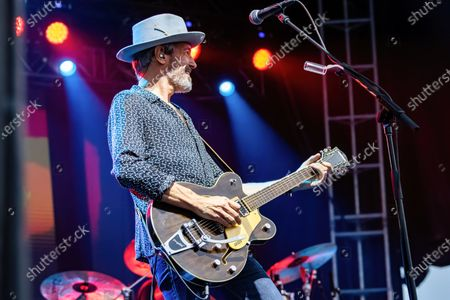 Stock Image of Bill Bell performs at the Edmonton Rock Fest with Red Rider as part of the Together Again Outdoor Festival series at Northlands Exhibition Grounds in Edmonton.