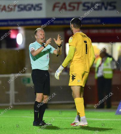 Editorial image of Crawley Town v Salford City, EFL Carabao Cup, Football, The People's Pension Stadium, Crawley, UK - 17 Aug 2021
