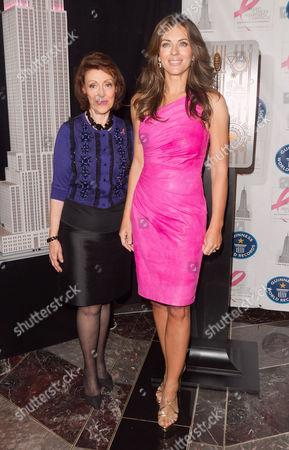 Evelyn Lauder and Elizabeth Hurley