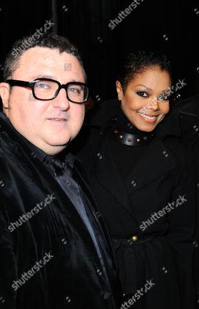 Janet Jackson and designer Albert Elbaz
