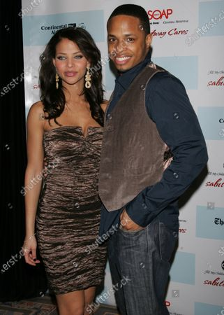 Denise Vasi and Cornelius Smith Jr. arrive for the 5th Annual ABC and SOAPnet Salute to Broadway Cares/Equity Fights AIDS Benefit Post-Party at the Marriott Marquis Hotel in New York on March 9, 2009.