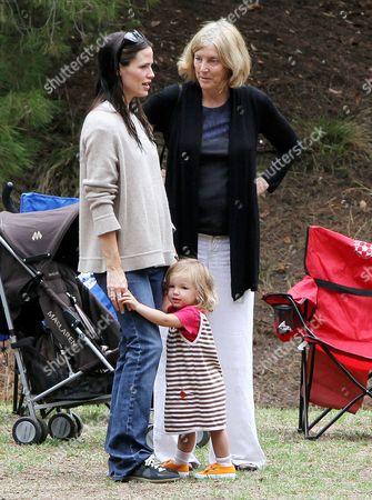 Jennifer Garner with  daughter Seraphina Affleck and her mother Patricia Ann Garner