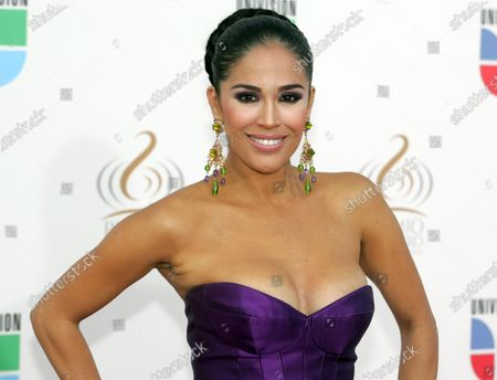 Stock Picture of Carla Martinez arrives for the 2009 Premio Lo Nuestro award show at the BankUnited Center in Coral Gables, Florida  on March  26, 2009.
