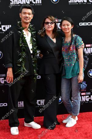 Destin Daniel Cretton, Victoria Alonso and Chloe Zhao