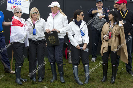 Holly Sweeney, girlfriend of Rory McIlroy, Katie Poulter, unknown, Diane Donald and Lisa Pavin