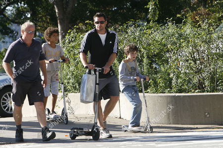 Editorial image of Hugh Jackman and son out and about, New York, America - 03 Oct 2010