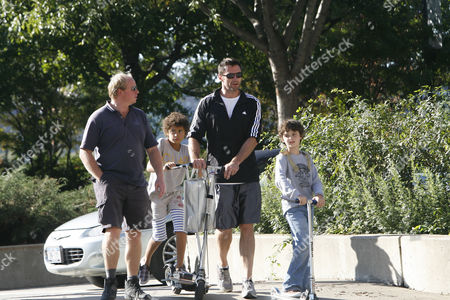 Editorial photo of Hugh Jackman and son out and about, New York, America - 03 Oct 2010