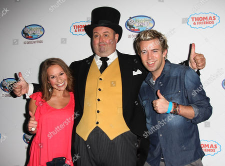 Jen Pringle and Derek Moran with the Fat Controller