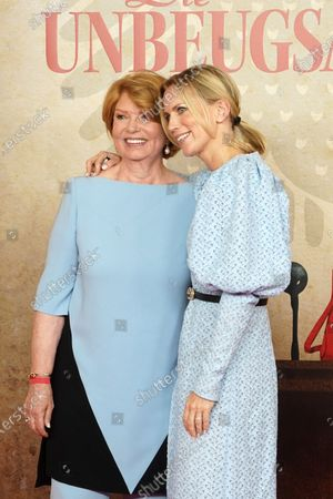 Stock Picture of Sabine Graefin von Nayhauss-Cormons (L) and daughter Tamara Graefin Nayhauss attend the world premiere of the documentary 'The Indomitable' (Die Unbeugsamen) of the director Korner in the Delphi-Filmpalast, in Berlin, Germany, 16 August 2021. The film shows how women in the Bonn Republic had to fight for their political participation. The official release date is 26 August 2021.