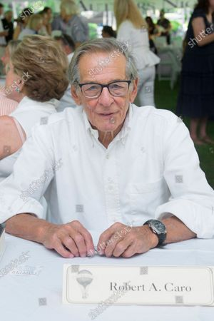 Stock Photo of Author Robert Caro attends the East Hampton Library's Authors Night benefit, in East Hampton, NY