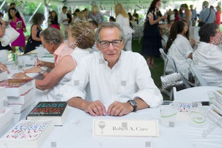 Stock Image of Author Robert Caro attends the East Hampton Library's Authors Night benefit, in East Hampton, NY