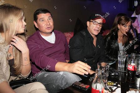Stock Picture of Aleksandr Onicshenko, Jean-Claude Van Damme and Alena Kaverina