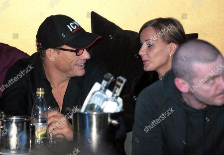 Stock Photo of Jean-Claude Van Damme, Alena Kaverina and Aleksandr Shapiro