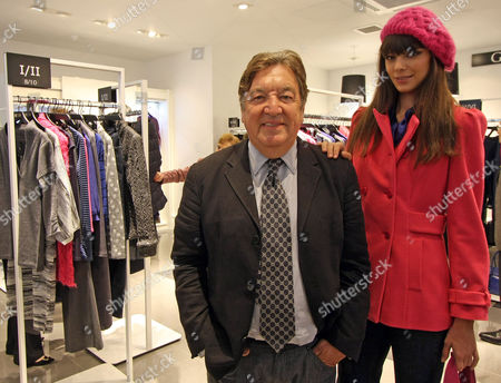Retail Guru George Davies Opens His New Womenswear Brand Give Store In Regents Street London. Pictured With Model Mira Fodorova