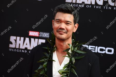 """Director Destin Daniel Cretton arrives at the premiere of """"Shang-Chi and the Legend of the Ten Rings"""", at the El Capitan Theatre in Los Angeles"""