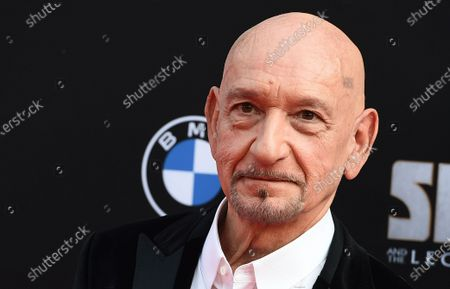 """Stock Picture of Sir Ben Kingsley arrives at the premiere of """"Shang-Chi and the Legend of the Ten Rings"""", at the El Capitan Theatre in Los Angeles"""