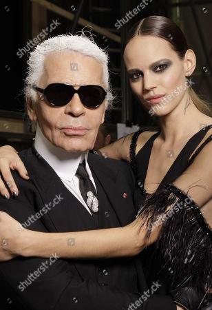 Karl Lagerfeld and Freja Beha Erichsen