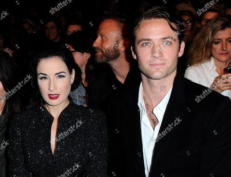 Dita Von Teese and Louis-Marie de Castelbajac