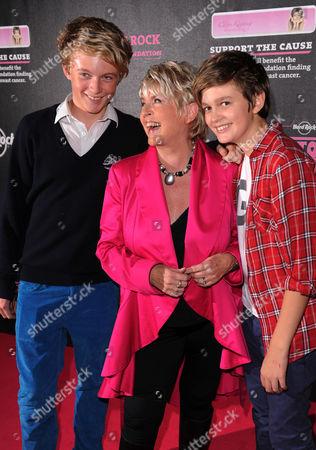 Stock Photo of Charlie Keating, Gloria Hunniford and Gabriel Keating