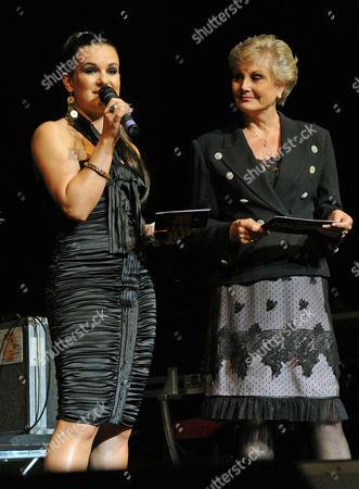 Lilia Kopylova and Angela Rippon