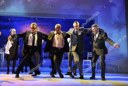'Onassis' - Robert Lindsay (Onassis), Robert Hastie (Theo), John Hodgkinson (Yanni) and Gawn Grainger (Costa)