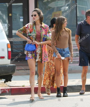 Alessandra Ambrosio is seen with daughter Anja Louise Mazur