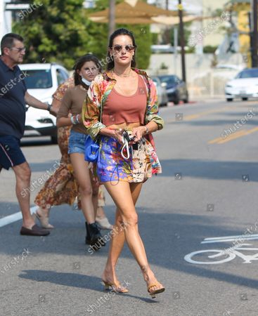 Editorial image of Alessandra Ambrosio seen with her daughter in Los Angeles, California, USA - 16 Aug 2021
