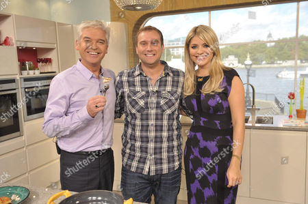 Phillip Schofield and Holly Willoughby with Tarrant Ablett