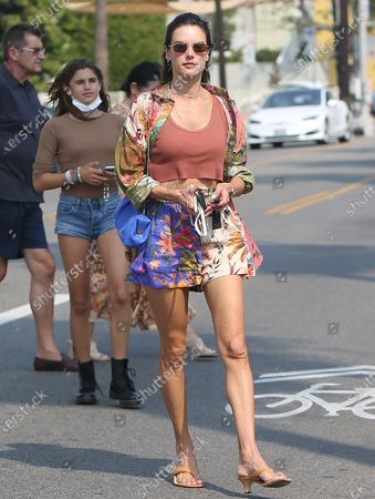 Editorial picture of Alessandra Ambrosio seen with her daughter in Los Angeles, California, USA - 16 Aug 2021