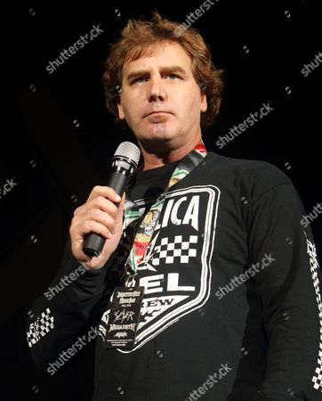 Editorial picture of Jim Florentine welcomes the hard rock band Anthrax to the stage at the 1st Mariner Arena, Baltimore, America - 06 Oct 2010