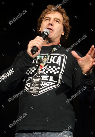 Editorial image of Jim Florentine welcomes the hard rock band Anthrax to the stage at the 1st Mariner Arena, Baltimore, America - 06 Oct 2010