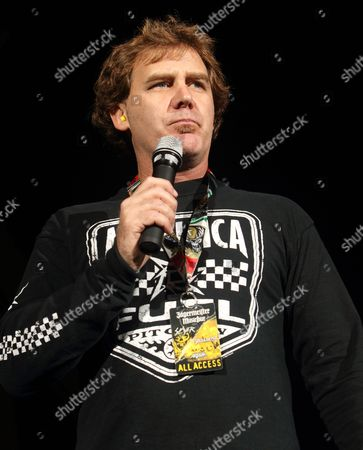 Editorial photo of Jim Florentine welcomes the hard rock band Anthrax to the stage at the 1st Mariner Arena, Baltimore, America - 06 Oct 2010