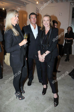 Amanda Wakeley and boyfriend and Sue Whiteley
