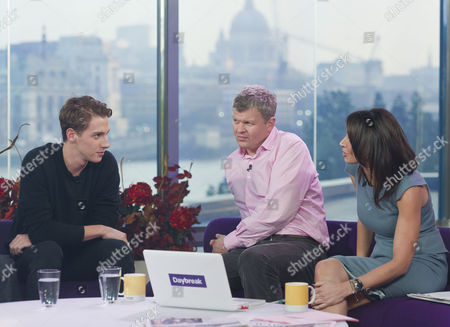 X Factor Evictee, Nicolo Festa with Adrian Chiles and Christine Bleakley