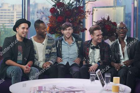 Stock Picture of X Factor Evictees, F.Y.D - KKalvin LaMey, Ryan-Lee Seager, Alex Murdoch, Matt Newton and Jordan Gabriel