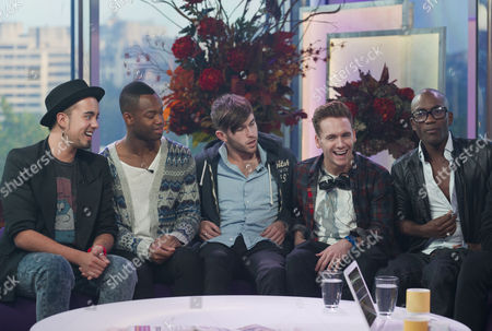Stock Picture of X Factor Evictees, F.Y.D - Kalvin LaMey, Ryan-Lee Seager, Alex Murdoch, Matt Newton and Jordan Gabriel
