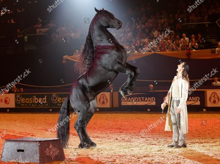 Frederic Pignon with a Lusitano horse