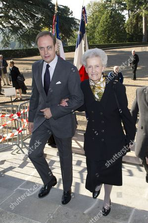 Stock Photo of Princess Marie-Therese d'Orleans, Duchess of Montpensier and Prince Jean d'Orleans, Duke of Vendome