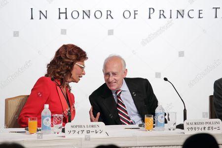 Sophia Loren and Maurizio Pollini